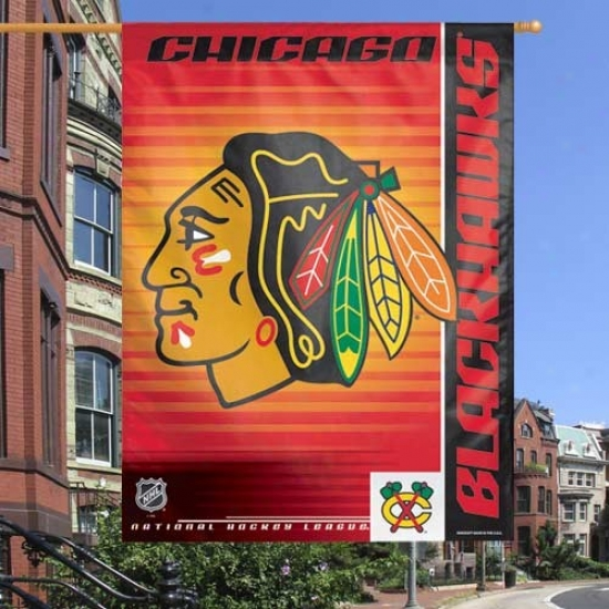 Chicago Black Hawks Flags : Chicago Black Hawks Red 27'' X 37'' Vertical Flags Flags