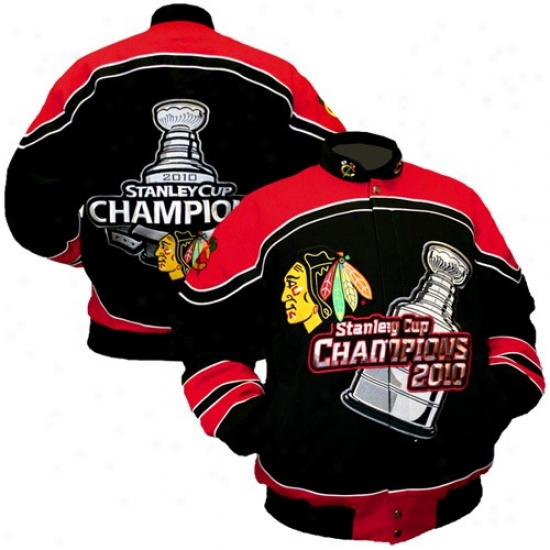 Chicago Black Hawks Jacket : Chicago Black Hawks Murky 2010 Nhl Stanley Cup Champions Heavyweight Championship Jacket