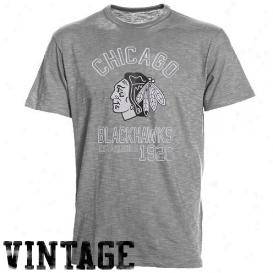 Chicago Black Hawks T Shirt : Banner '47 Chicago Black Hawks Ahs Baseline Vintage T Shirt