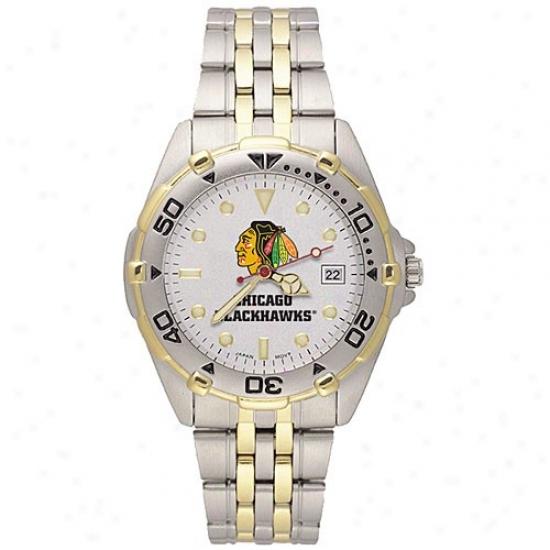 Chicago Black Hawks Watches : Chicago Black Hawks Men's Stainless Steel All-star Watches