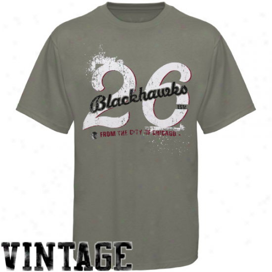 Chicsgo Blackhawk Shirt : Old Time Hockey Chicago Blackhzwk Gray Bench Premium Shirt