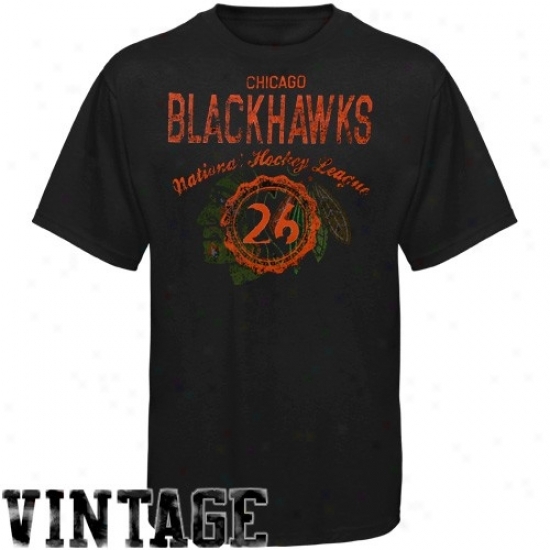 Chicago Blackhawk T Shirt : Old Time Hockey Chicago Blackhawk Black Morrison Vintage T Shirt