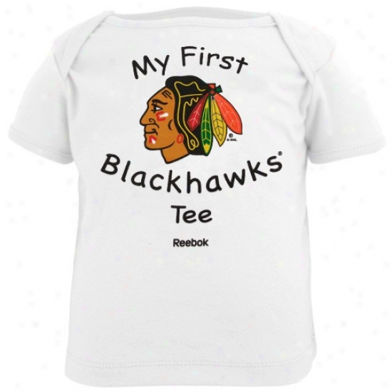 Chicago Blackhawk T-shirt : Reebok Chicago Blackhawk Infant White My First Blackhawks T-shirt T-shirt