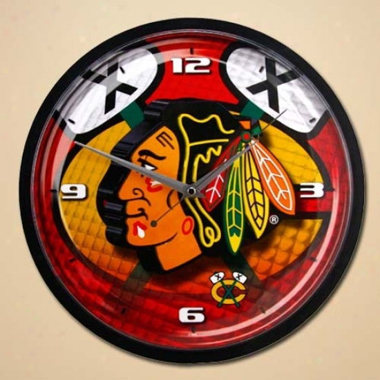 Chicago Blackhawks 12'' Wall Clock