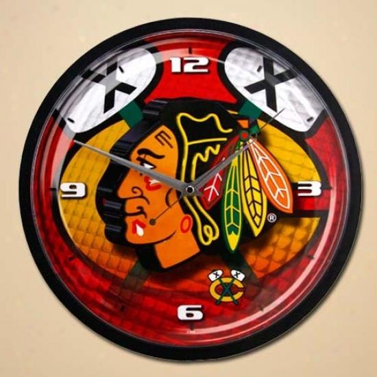 Chicago Blackhawks 12'' Wall Clock