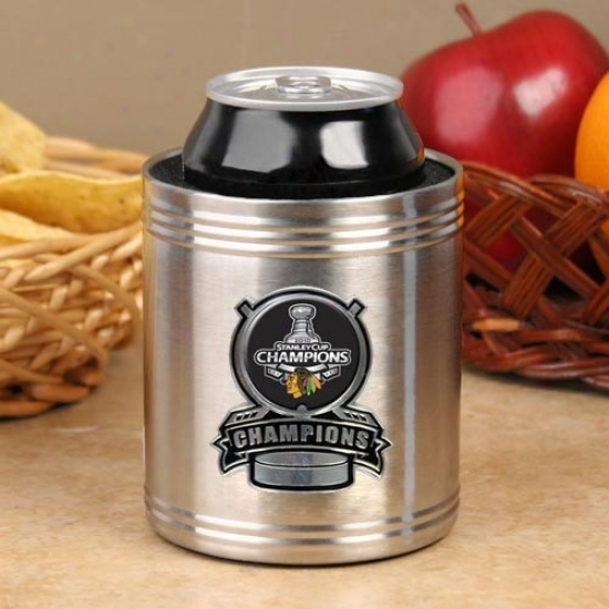 Chicago Blackhawks 2010 Nhl Stnley Cup Champions Stainless Steel Can Co0lie