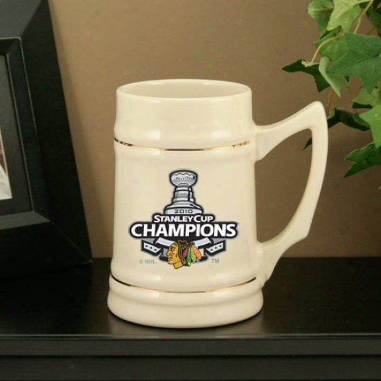 Chicago Blackhawks 2010 Nhl Stanley Cup Champions Natural 24oz. Ceramic Stein
