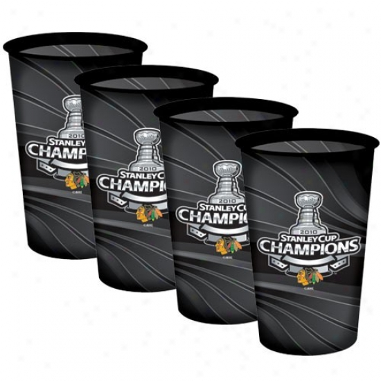 Chicago Blackhawks 2010 Nhl Stanley Cup Champions 4-pack 32oz. Souvenir Cups