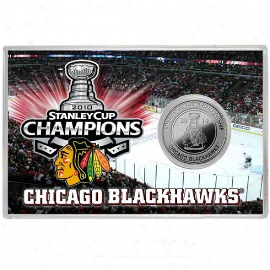 Chicago Blackhawks 2010 Nhl Stanley Cup Champions Silver Coin Card