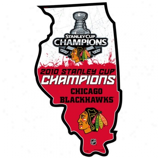 Chicago Blackhawks 2010 Nhl Stanley Cup Champions State Sign