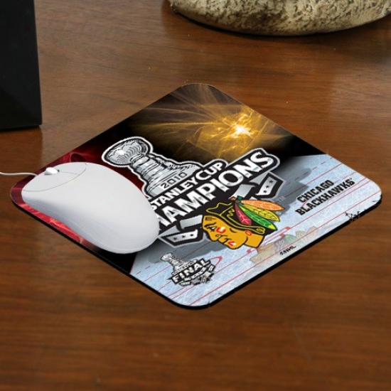 Chicago Blackhawks 2010 Nhl Stanley Cup Champions Sublimated Mousepad
