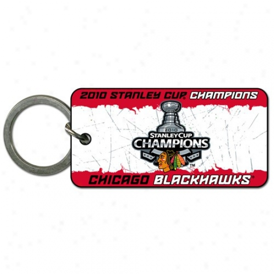 Chicago Blackhawks 2010 Nhl Stanley Cup Champions Plastic Keychain