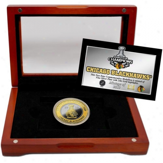 Chicago Blackhawks 2010 Nhl Stanley Cup Champions Twwo-tone Coin