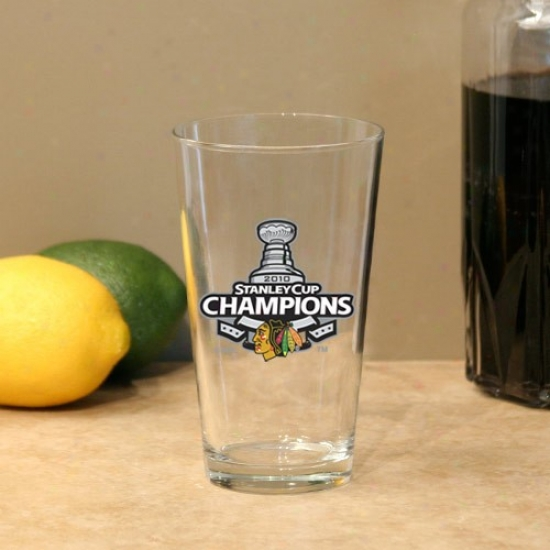 Chicago Blackhawks 2010 Nhl Stanley Cup Champiojs 17oz. Mixing Glass
