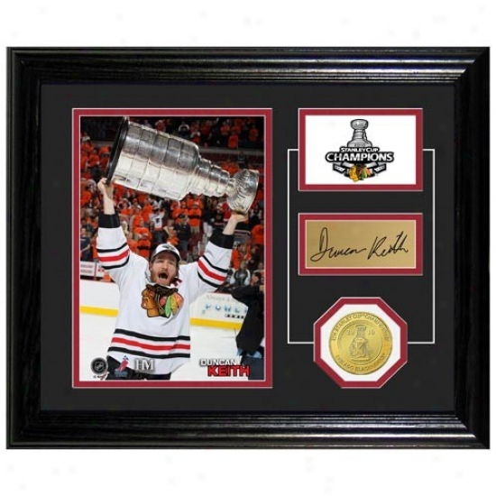 Chicago Blackhawks 2010 Nhl Stanley Cup Champions Duncan Keith Stanley Cup Pride Photo Mint