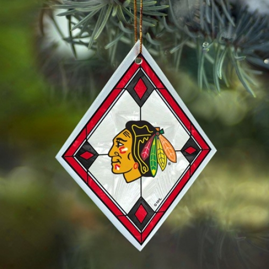 Chicago Blackhawks Art-glass Decorate
