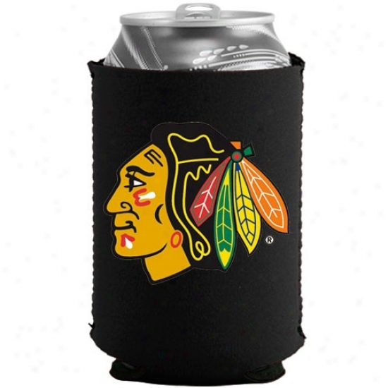 Chicago Blackhawks Black Collapsible Can Coolie