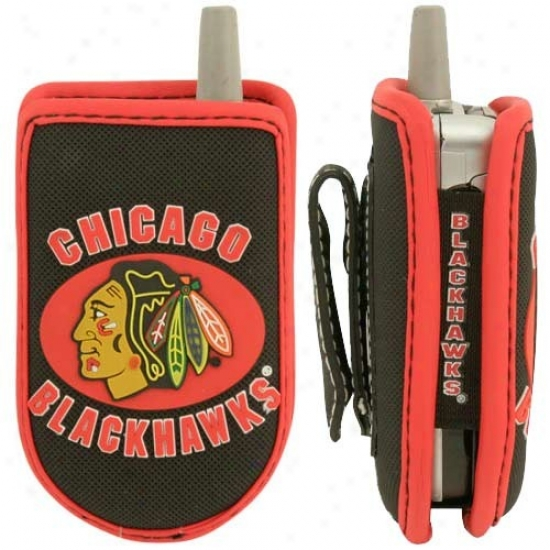 Chicago Blackhawks Black Game Wear Hockey Puck Cell Phone Case