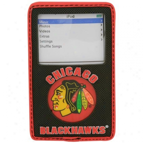 Chicago Blackhawks Black Game Wear Hockey Puck Ipod Case