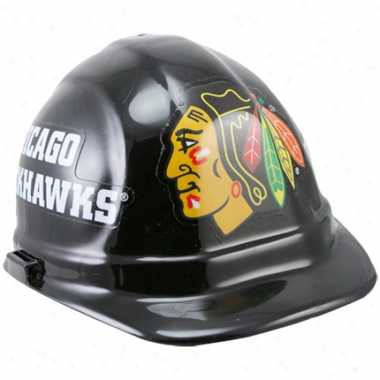 Chicago Blackhawks Black Hard Hat