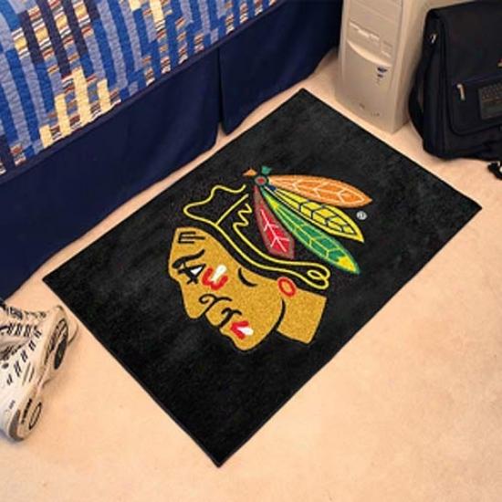 Chicago Blackhawks Black Logo Starter Mat