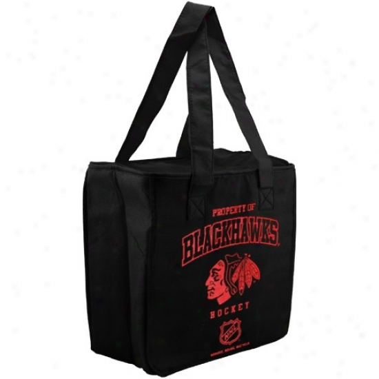 Chicago Blackhawks Black Reusable Insulated Tote Bag