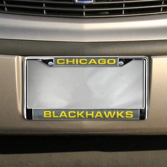 Chicago Blackhawks Chrome Licehse Plate Frame
