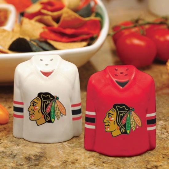Chicago Blackhawks Gameday Cramic Salt & Pepper Shakers