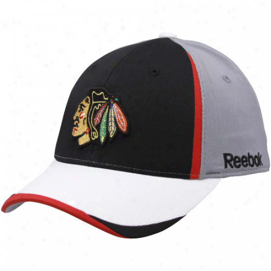 Chicago Blackhawks Hats : Reebok Chicago Blackhawks Youth Gray 2010 Draft Day Flex Fit Hats