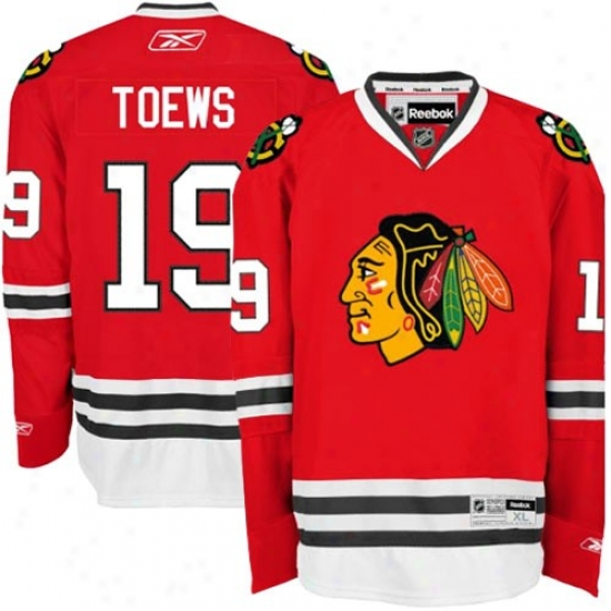 Chicago Blackhawks Jerseys : Reebok Chicago Blackhawks  #19 Jonathan Toews Red Premier Hockey Jerseys