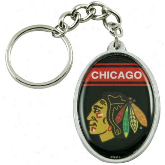 Chicago Blackhawks Oval Keychain