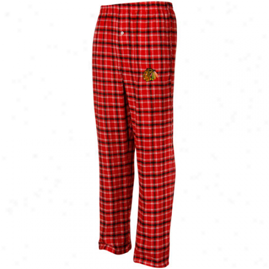 Chicago Blackhawks Red Plaid Match-up Pjama Pants