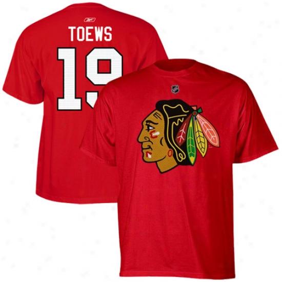 Chicago Blackhawks Shirt : Reebok Chicago Blackhawks #19 People of the United States Toews Red Net Player Shirt