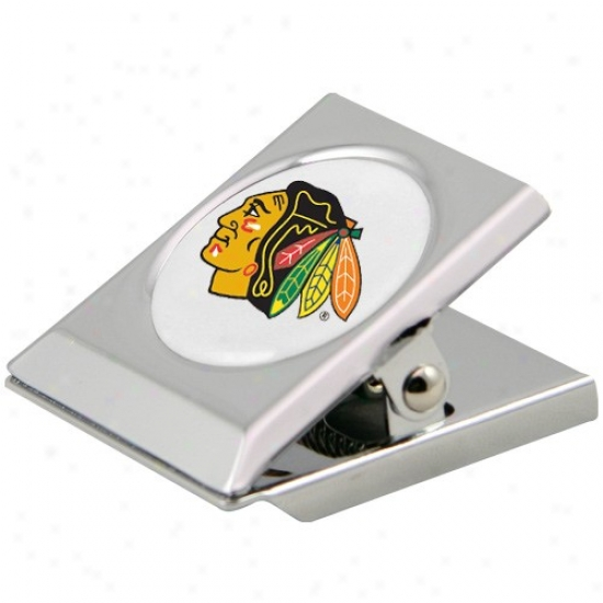 Chicago Blackhawks Silver Heavy-duty Magnetic Chip Clip