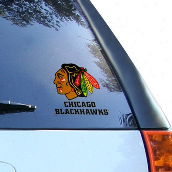 Chicago Blackhawks Small Window Cling