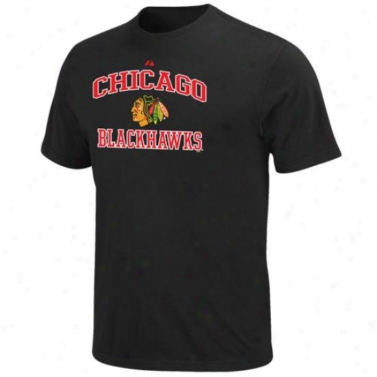 Chicago Blackhawks T Shirt : Majestic Chicago Blackhawks Youth Black Heart & Soul Ii T Shirt