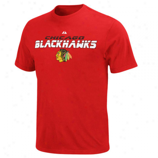 Chicago Blackhawks T Shirt : Splendid Chicago Bkackhawks Red Attack Zone T Shirt