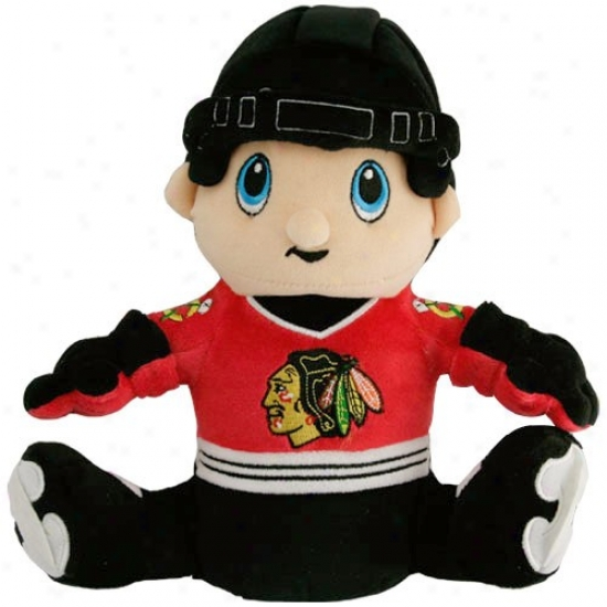 Chicago Blackhawks Team Logo Hockey Player Plush
