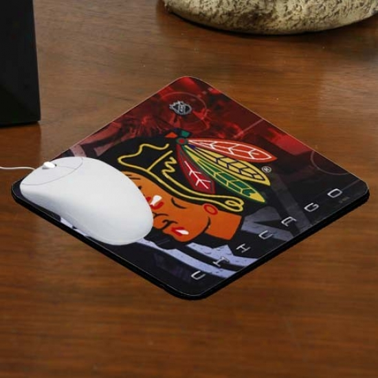 Chicago Blackhawks Team Logo Neoprene Mousepad