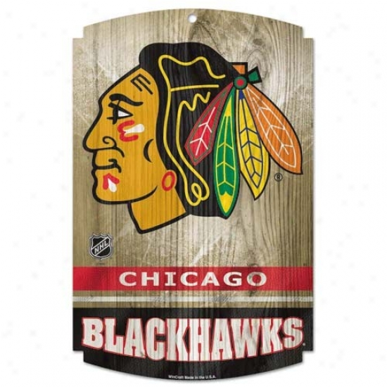 Chicago Blackhawks Wood Cognizance