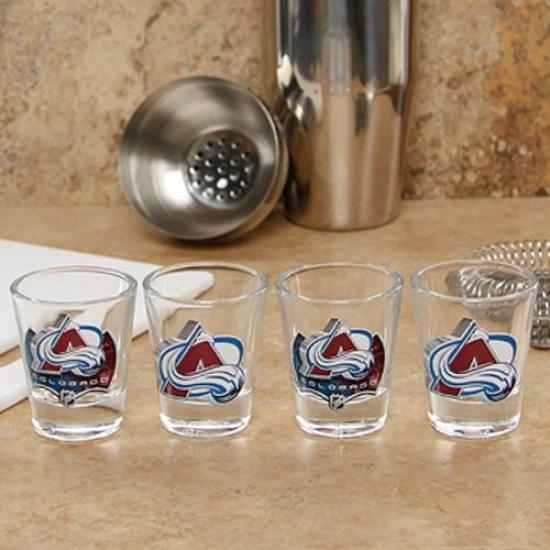 Colorado Avalanche 4-pack Enhanced High Definition Design Shot Glass Set