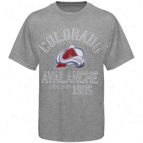 Colorado Avalanche Attire: Banner '47 Colorado Avalanche Ash Baseline Distressed T-shirt