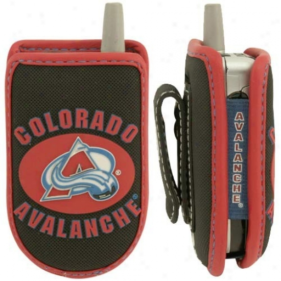 Colorado Avalanche Black Game Wear Hockey Puck Cell Phone Case