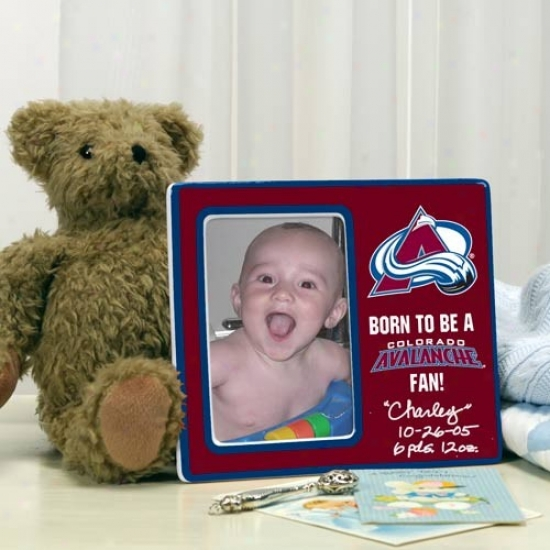 Colorado Avalanche Born To Be Picture Frame
