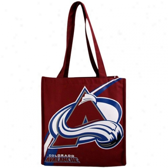 Colorado Avalanche Burgundy Team Stroke  Canvas Tote