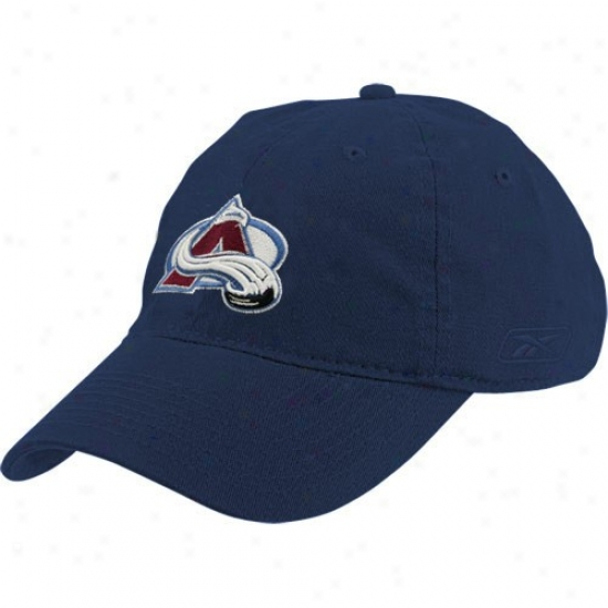 Colorado Avalanche Caps : Reebok Colorado Avalanche Navy Livid Ladies Lubber Caps