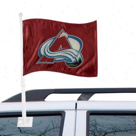 Colorado Avalanche Flags : Colorado Avalanche Burgundy Car Flags