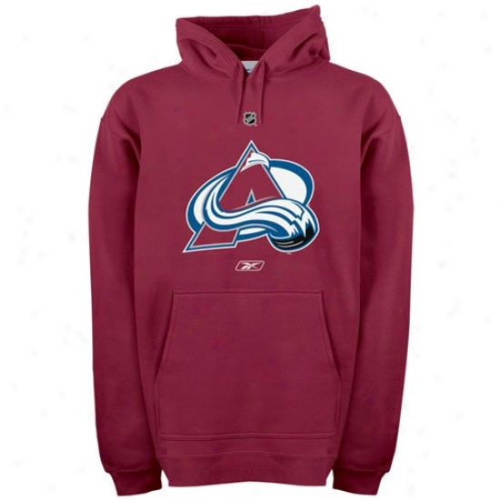 Colorado Avalanche Fleece : Reebok Colorado Avalanche Burgundy Primary Logo Fleece