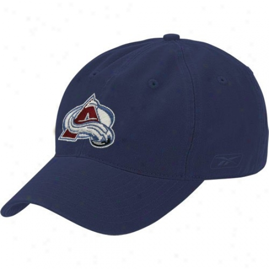 Colorado Avalanche Gear: Reebok Colorado Avalanche Navy Blue Face Off Slouch Flex Fit Hat