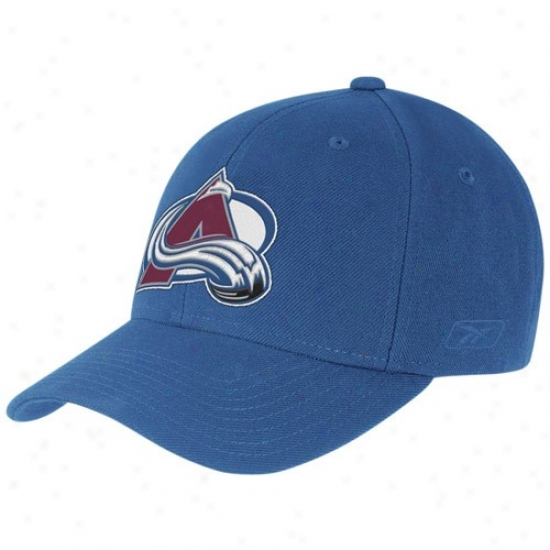 Colorado Avalanche Gear: Reebok Colorado Avalanche Blue Basic Logo Wool Blend Adjustable Hat
